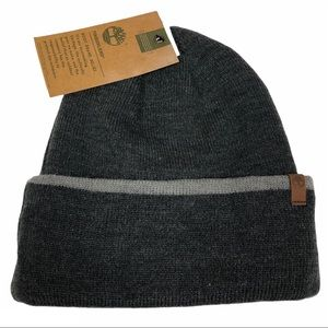 NWT Timberland dark gray beanie hat one size